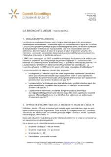 La bronchite aiguë - Mise à jour 2011 — Conseil Scientifique ...