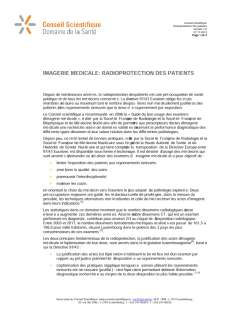 Imagerie medicale-radioprotection des patients